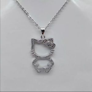Hello Kitty 925 Sterling Silver Necklace.